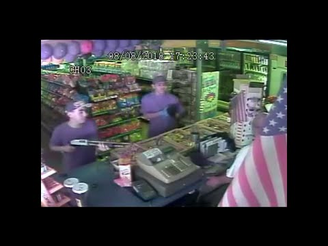 Tulare armed robbery surveillance video