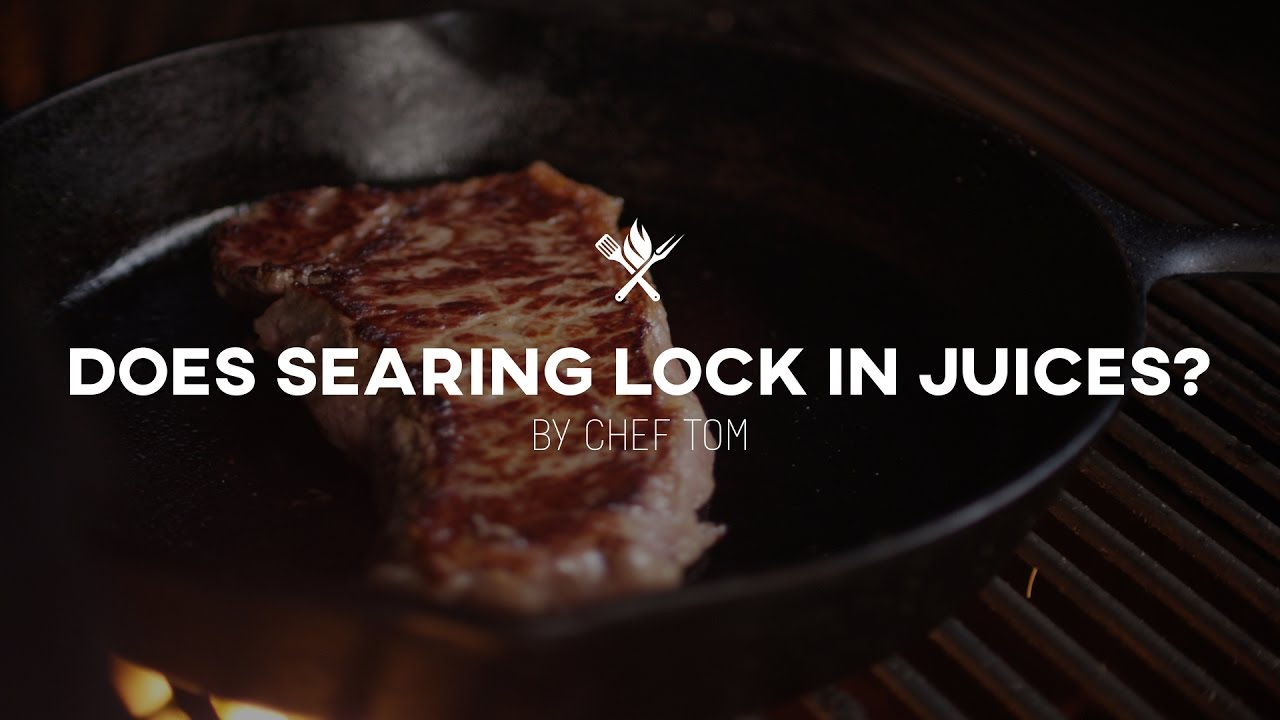 Does Searing Steak Lock in Juices? | Tips & Techniques by All Things  Barbecue