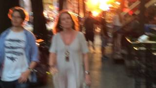 Sun exploding on St. Marks PL, New York City, 6-19-16