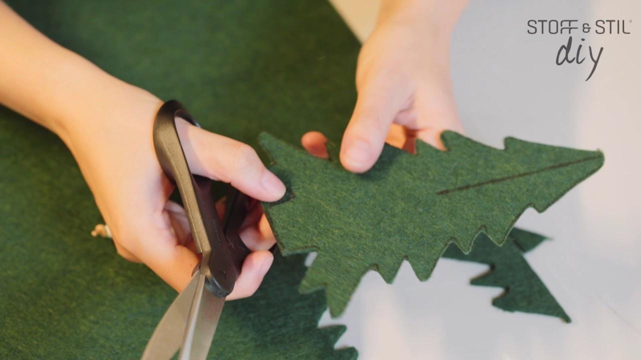 DIY Filt juletræ