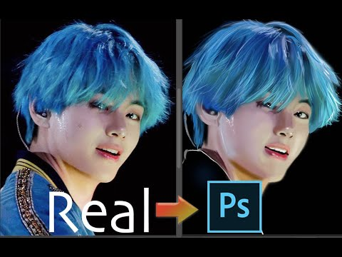 Drawing BTS V (Taehyung) Realistic Drawing in Photoshop Tutorial- BTS Art [K-POP Art] thumbnail