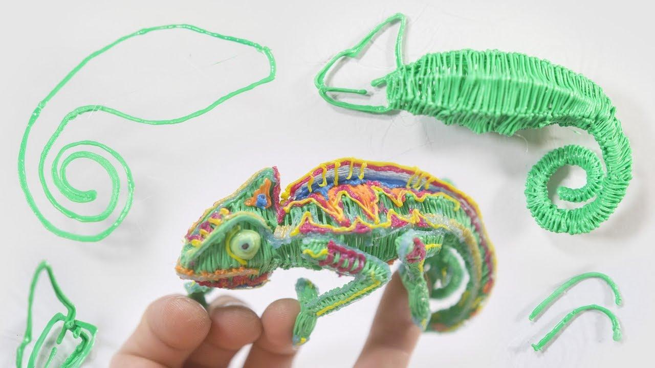 3d Pen Technique Chameleon See Description