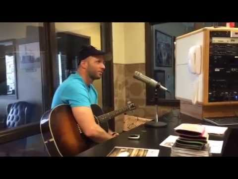 """Shane Barnhill at 100.1 FM KYKC in Ada, Oklahoma peforming """"It dont hurt to ask"""""""