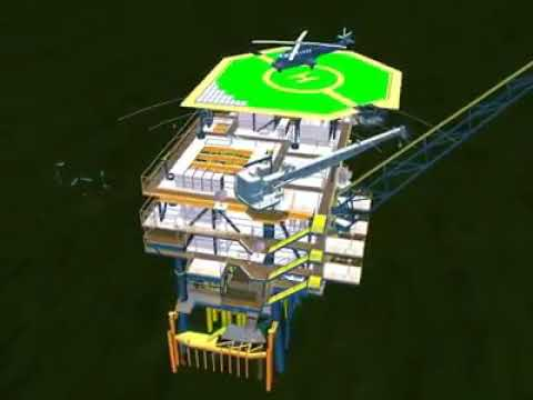 Offshore Platform Animation