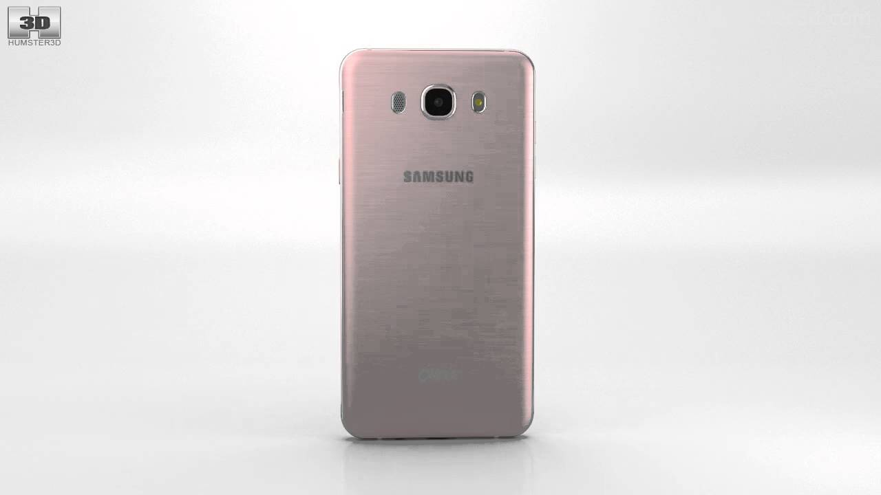 samsung galaxy j7 2016 rose gold 3d model by youtube. Black Bedroom Furniture Sets. Home Design Ideas