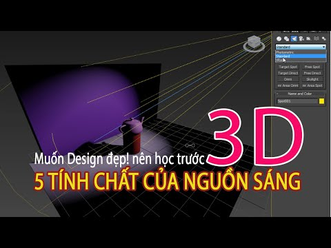 3D CÁC LOẠI NGUỒN SÁNG ĐỀU CÓ 5 TÍNH CHẤT CƠ BẢN NÀY - hoc 3dmax online