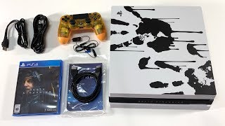 PS4 (DEATH STRANDING) CONSOLE UNBOXING! Playstation 4 Pro Limited Edition Bundle