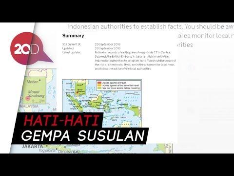 Tsunami di Palu dan Donggala, Inggris Keluarkan Travel Advice