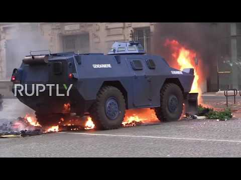 France: Armoured vehicles deployed on Parisian streets as 'Yellow Vests' protests continue