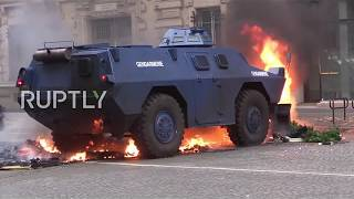 France: Armoured vehicles deployed on Parisian streets as
