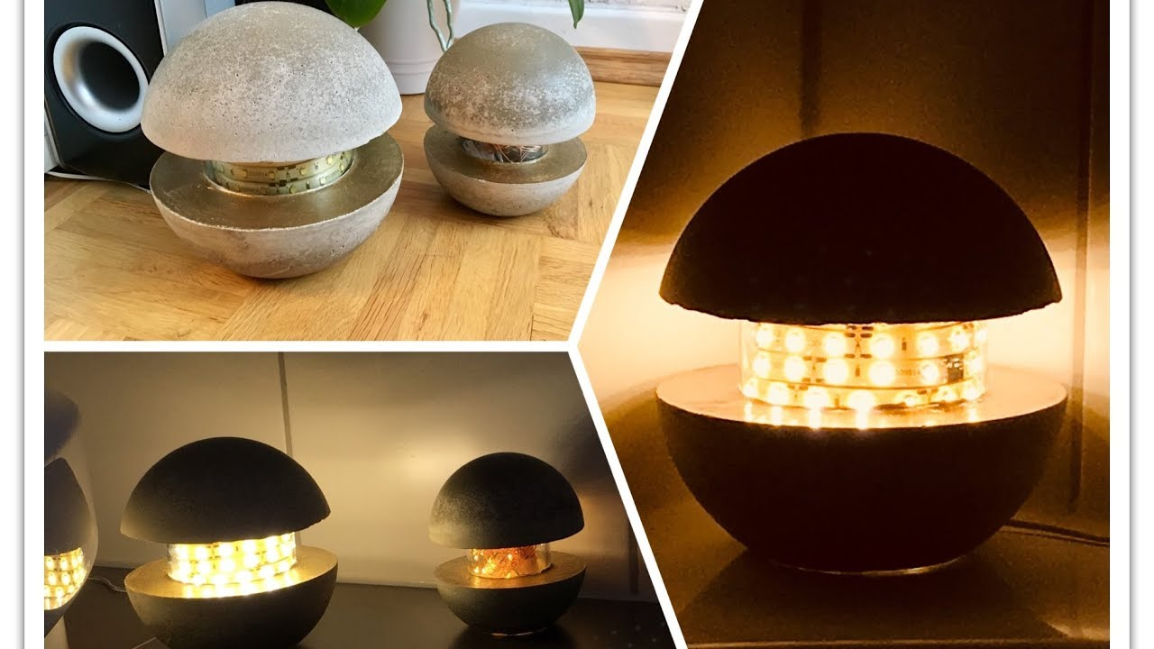 How To Make A Concrete Lamp