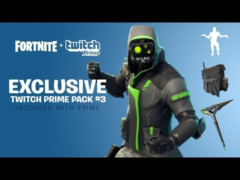 NEW TWITCH PRIME PACK #3! NEW FREE SKINS UPDATE FORTNITE (Fortnite Exclusive Twitch Prime Pack)
