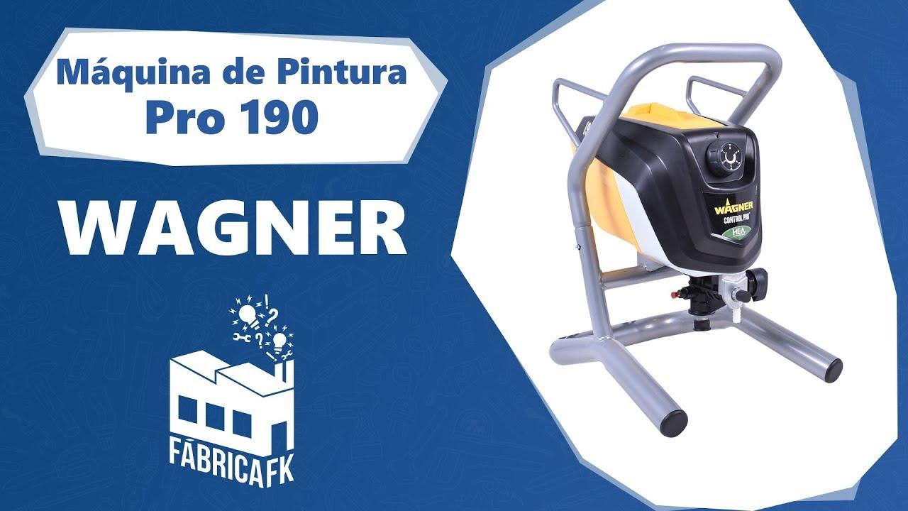 Maquina De Pintar Wagner.Maquina De Pintura Airless Pro190 Wagner Fabrica Fk Youtube