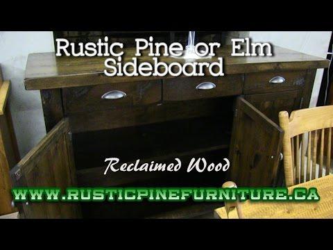 Rustic Pine Sideboard From Reclaimed Wood, Mennonite Furniture Newmarket Ontario.