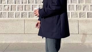 [규마켓] 남녀공용 울 하프 더플코트