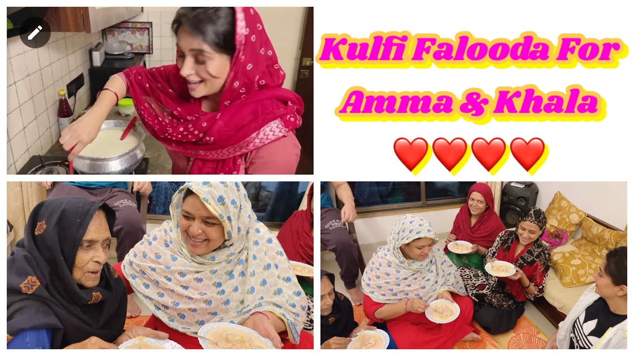 My Kulfi Falooda Recipe  Amma & Khaala Loved It   Ammi & Saba's All Time Favourite   DipikaKiDuniya