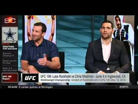Luke Rockhold & Chris Weidman intense side by side war of words, preview UFC 199 on Sportscenter