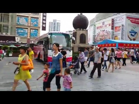 Walking around Guangzhou city South East China