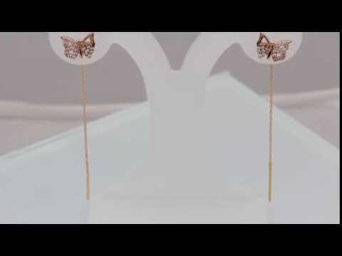 Серьги цепочки, золотые и серебряные серьги протяжки в
