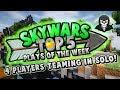 4 PLAYERS TEAMING IN SOLO! - Top 5 SKYWARS PLAYS of the Week
