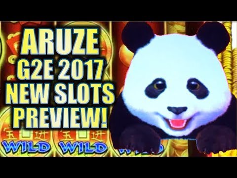★ARUZE | 2017 G2E NEW SLOTS PREVIEW!★ XTREME PANDA & SUPER SUN Slot Machine Bonus