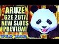 ★ARUZE | 2017 G2E NEW SLOTS PREVIEW!★ XTREME PANDA & SUPER SUN Slot Machine Bonus