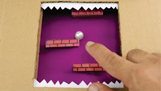 How to Make Rapid Roll/Marble roll Game from Cardboard