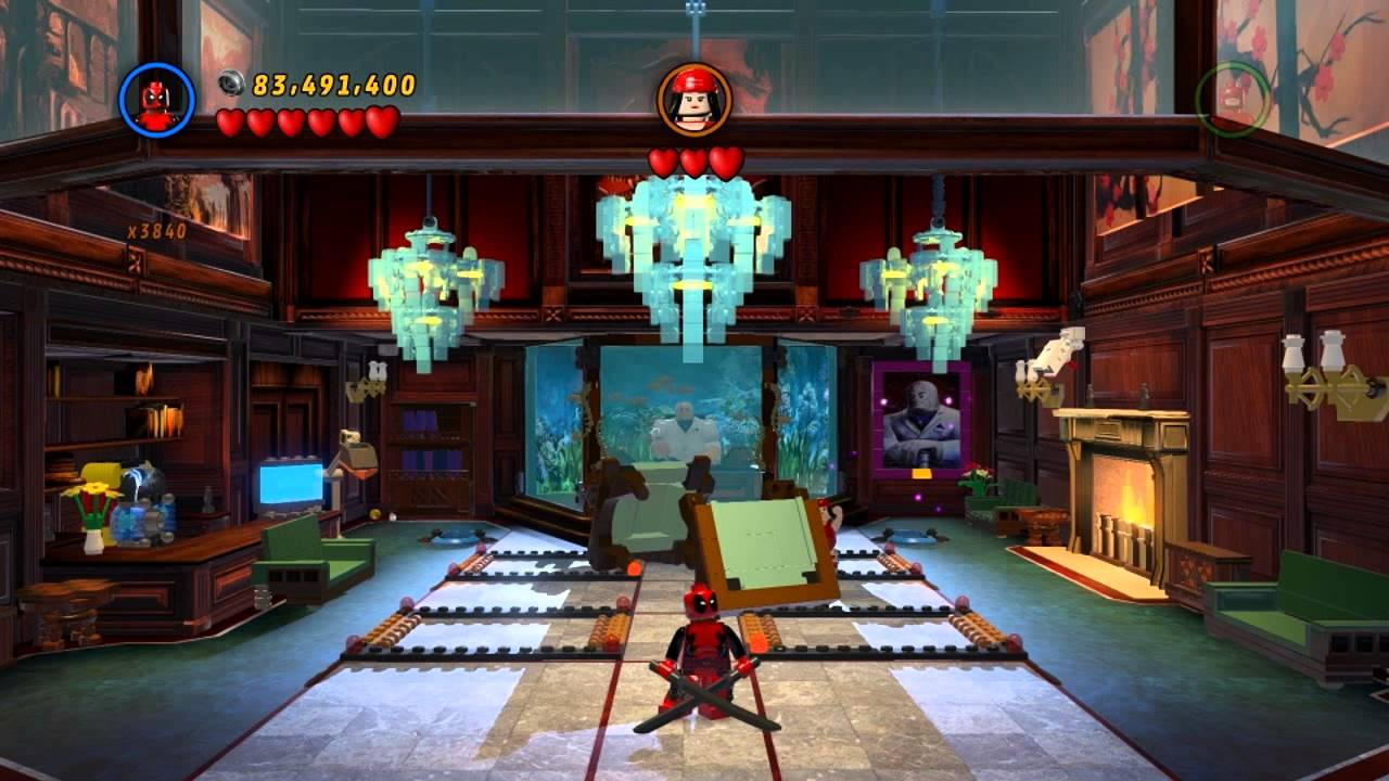 deadpool combat gameplay lego marvel super heroes youtube