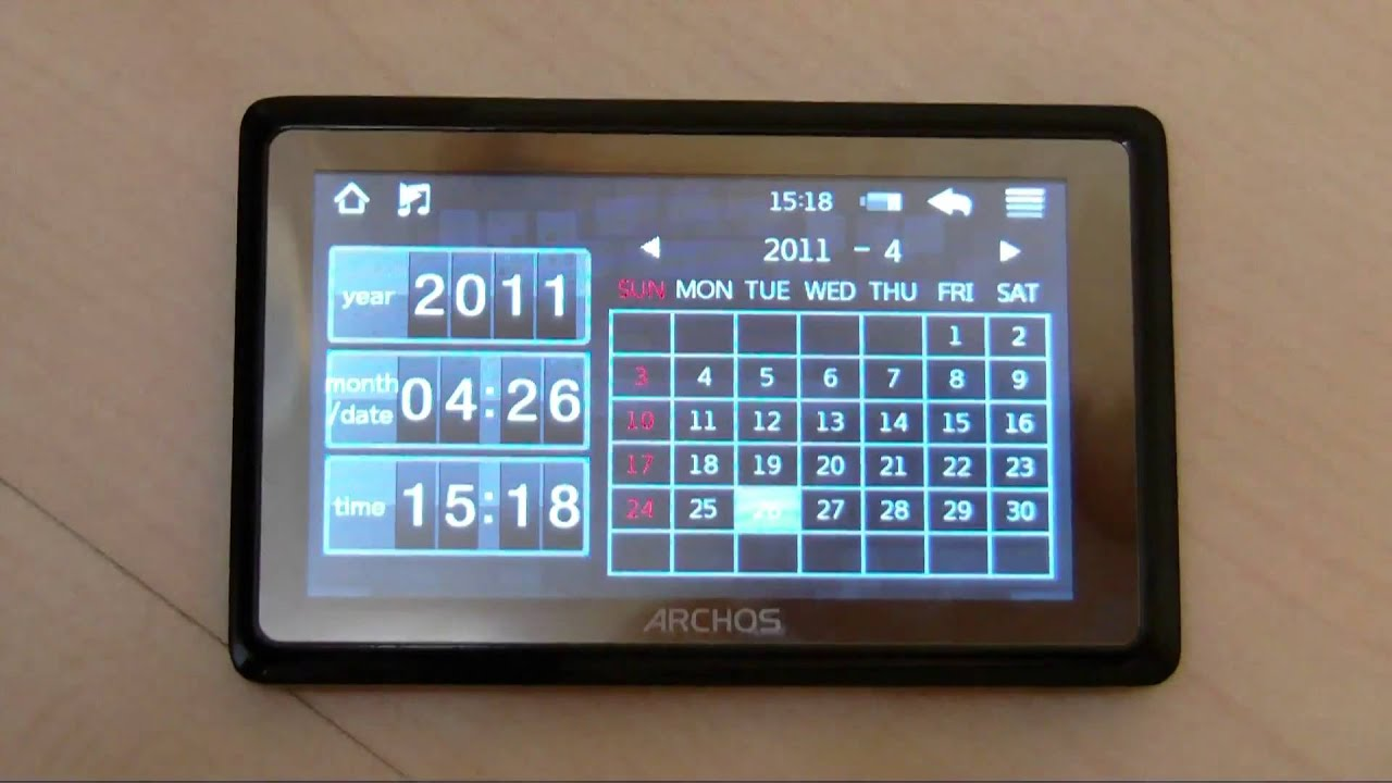 archos 35 vision mp3 mp4 player 8 gb first impressions and short rh youtube com