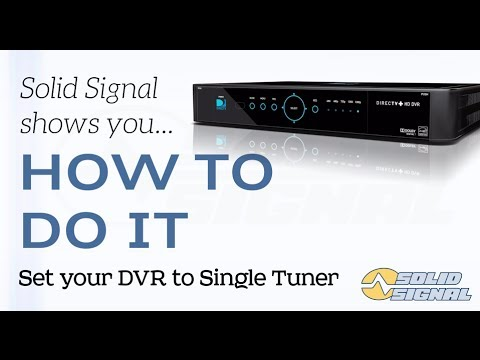HOW TO DO IT: Set your DIRECTV DVR to Single Tuner mode - YouTube H Directv Swm Wiring Diagram on