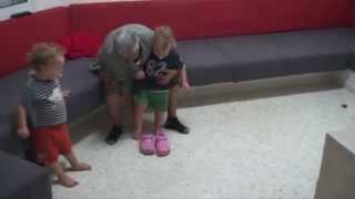 נגב וארבל בסוף הקייץ כמעט בני שנתיים 20.10.2014 Negev and Arbel almost 2 year old thumbnail