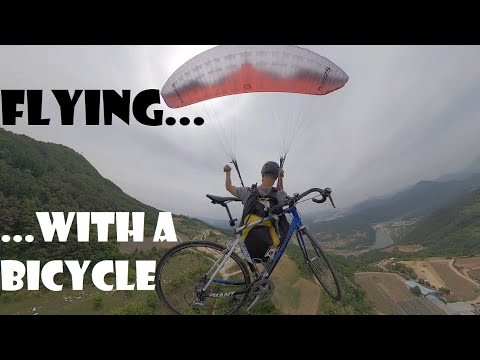 Paragliding with a