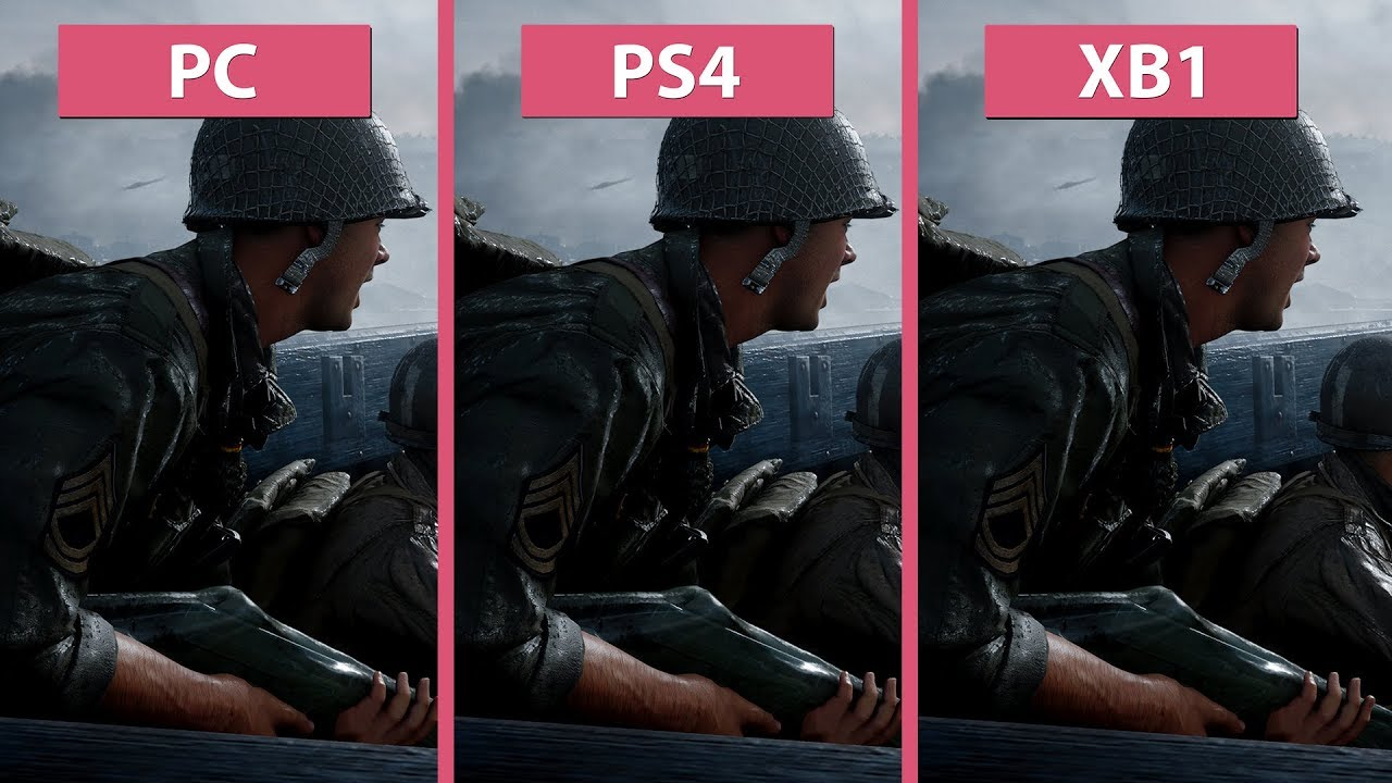 call of duty wwii � pc vs ps4 vs xbox one graphics