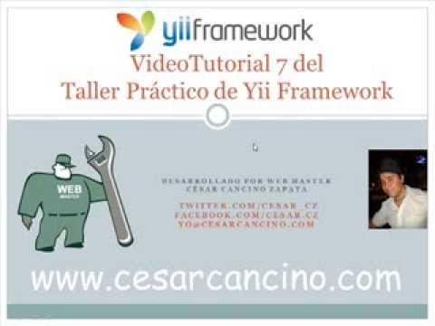 VideoTutorial 7 del Taller Práctico de Yii Framework. Uploads de archivos usando CUploadedFile