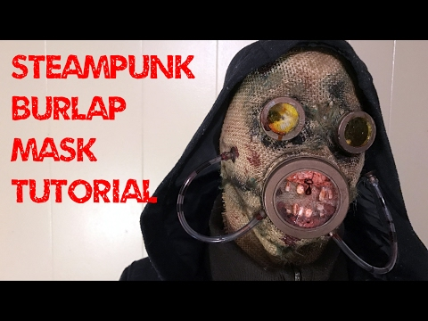 www.monstertutorials.com - Steampunk Post-apocalyptic Burlap Mask Tutorial