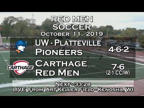 Carthage Men's Soccer Vs. UW - Platteville 2019_10_11