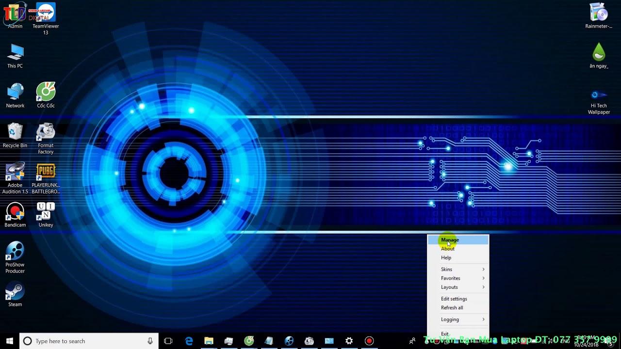 Hướng Dẫn Cách Trang Trí Màn Hình Desktop Đẹp Mắt cho Windows 10