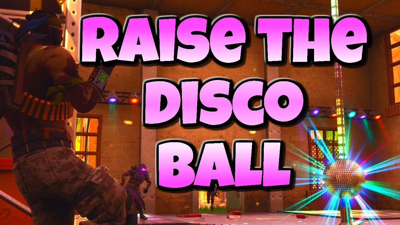 HOW TO COMPLETE DANCE WITH OTHERS TO RAISE THE DISCO BALL NEAR LOOT LAKE WEEK 5 CHALLENGES FORTNITE