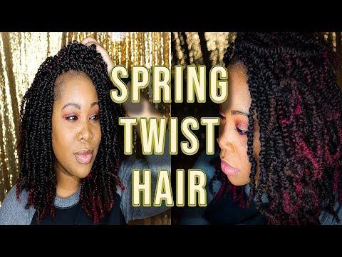 Spring Twist Protective Style Hair Tutorial | Under $40 | Amazon | UniqueRenee
