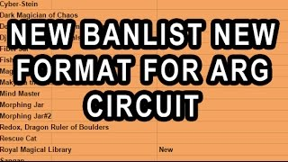 NEW BANLIST NEW FORMAT FOR ARG CIRCUIT (NOT OFFICIAL YGO)