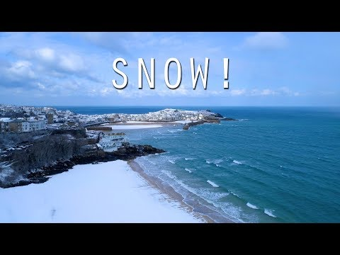 SNOW!!! Cornwall mini blizzard - 28th Feb 2018