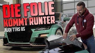 HOW DEEP? // AUDI TTRS 8S - DIE FOLIE KOMMT RUNTER