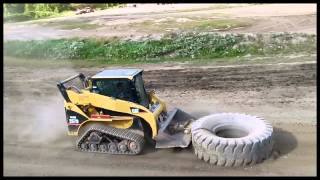 9-28-13  CAT TRAC SKID STEER LOADER AT WORK @ BIG ALS RACE TRACK