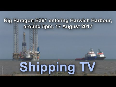 Rig Paragon 391 entering Harwich Harbour, around 5pm, 17th August 2017