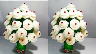 GULDASTA/DIY/NEW DESIGN FOAM ROSE GULDASTA/PLASTIC BOTTLE FLOWERPOT/VASE/FOAM GULDASTA/FOAM FLOWER