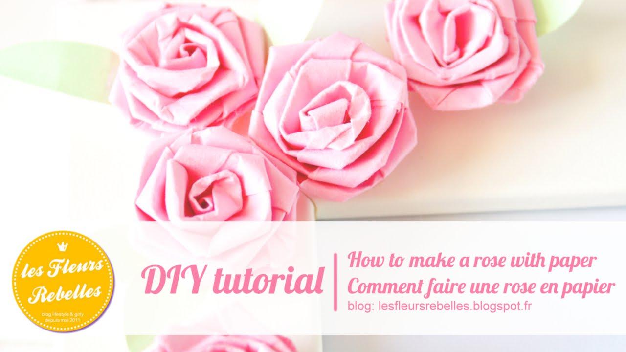 Tutoriel Facile Fleur En Papier Diy Petite Rose Youtube