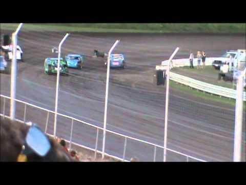 Tony Rost Adams County Speedway ACS Nascar sport modified heat race win 7/2/11
