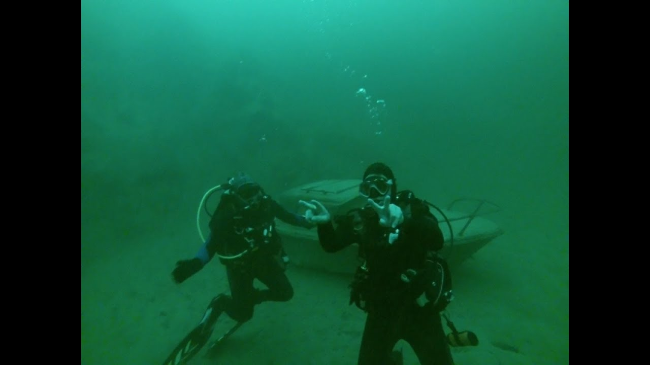 Lake Mohave Az Scuba Dive At Wreck Alley 9282013 Youtube