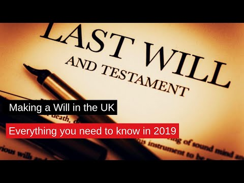 Writing a will uk