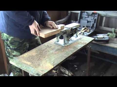 Изготовление разделочной доски инструментом интерскол